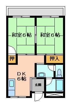 摂津市香露園}の賃貸物件間取画像