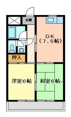 摂津市三島}の賃貸物件間取画像