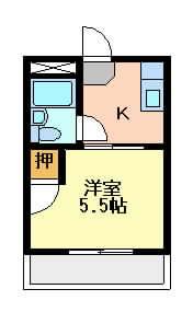 摂津市千里丘東}の賃貸物件間取画像