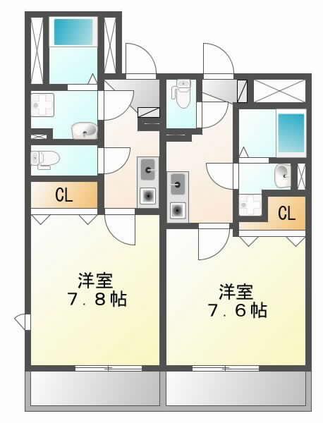 JR東海道本線(近畿)千里丘の賃貸物件間取画像