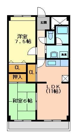 摂津市庄屋}の賃貸物件間取画像