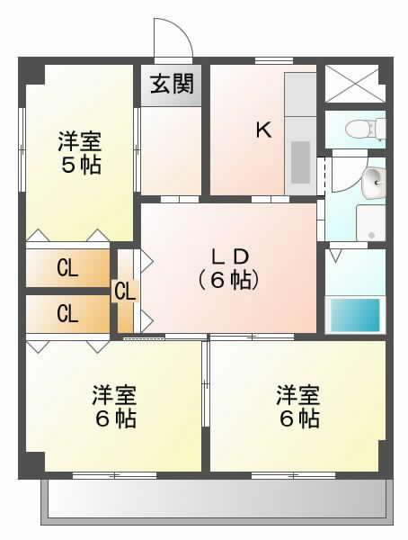 大阪モノレール摂津の賃貸物件間取画像