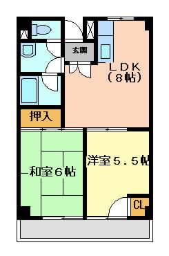 摂津市別府}の賃貸物件間取画像